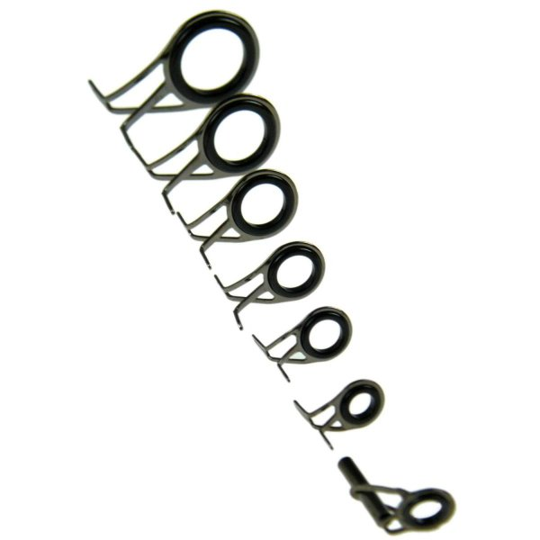 THKFISHS?釣竿修理キット、スピニング鋳物釣竿ガイド交換用セットスチール製セラミックリング釣竿修理キット7個/ロット