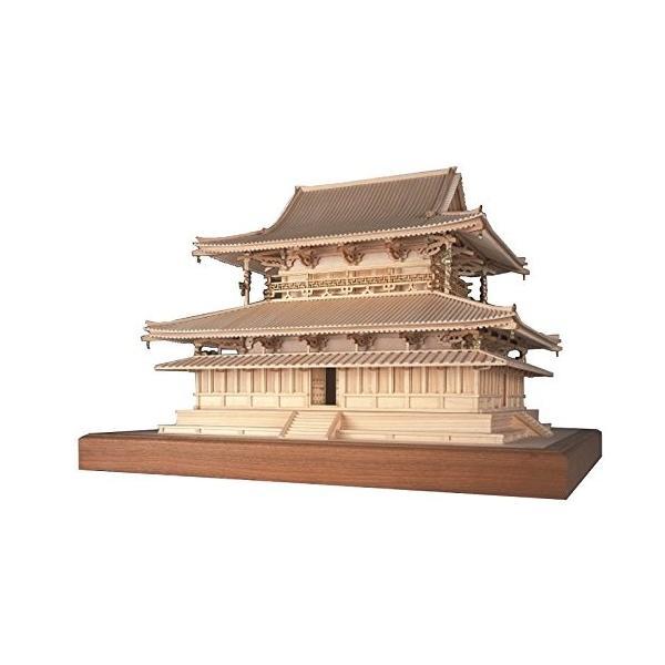 ウッディジョー 1/75 法隆寺 金堂 木製模型 組立キット|sunrise-eternity|02