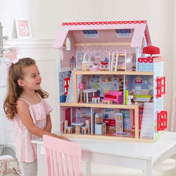 キッドクラフト チェルシー ドール コテージ こども ままごと 木製 ごっこ遊び KidKraft Chelsea Doll Cottage sunrise-eternity 02