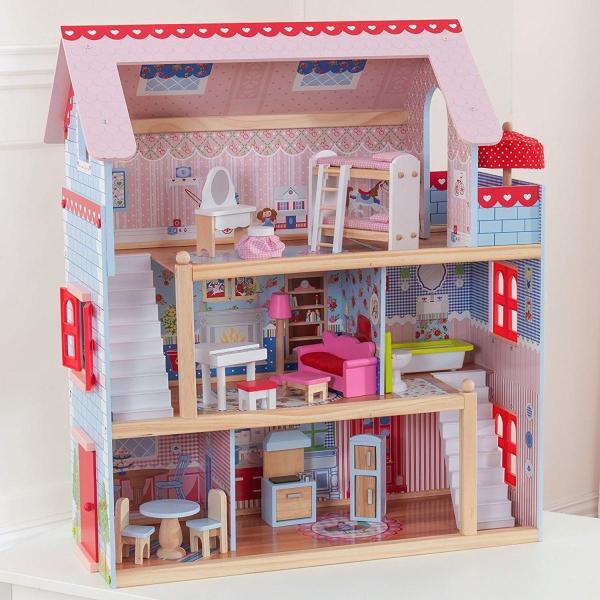 キッドクラフト チェルシー ドール コテージ こども ままごと 木製 ごっこ遊び KidKraft Chelsea Doll Cottage sunrise-eternity 12