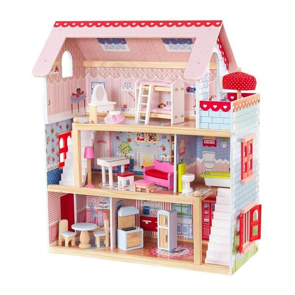 キッドクラフト チェルシー ドール コテージ こども ままごと 木製 ごっこ遊び KidKraft Chelsea Doll Cottage sunrise-eternity 14