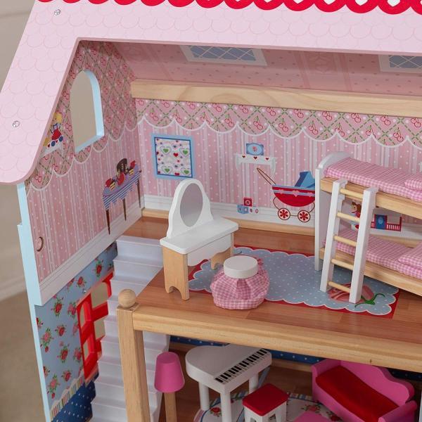 キッドクラフト チェルシー ドール コテージ こども ままごと 木製 ごっこ遊び KidKraft Chelsea Doll Cottage sunrise-eternity 16