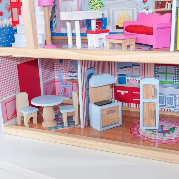 キッドクラフト チェルシー ドール コテージ こども ままごと 木製 ごっこ遊び KidKraft Chelsea Doll Cottage sunrise-eternity 03