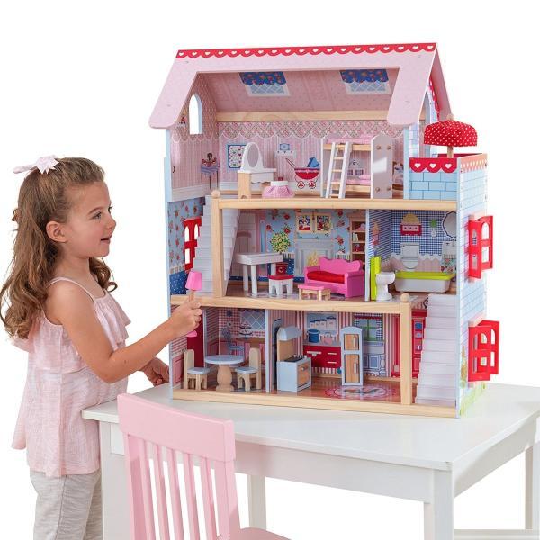 キッドクラフト チェルシー ドール コテージ こども ままごと 木製 ごっこ遊び KidKraft Chelsea Doll Cottage sunrise-eternity 04