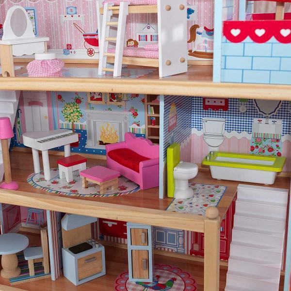 キッドクラフト チェルシー ドール コテージ こども ままごと 木製 ごっこ遊び KidKraft Chelsea Doll Cottage sunrise-eternity 08