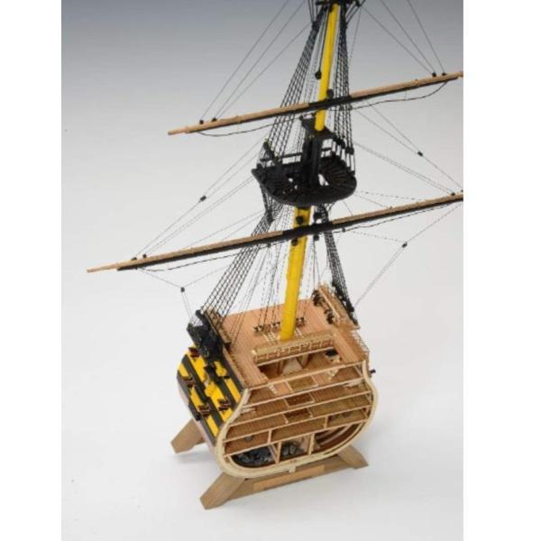 ウッディジョー 1/160 イギリス海軍 ビクトリー カットモデル (帆無) 木製模型 未塗装組立キット|sunrise-eternity