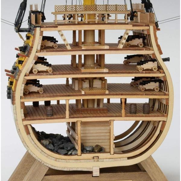 ウッディジョー 1/160 イギリス海軍 ビクトリー カットモデル (帆無) 木製模型 未塗装組立キット|sunrise-eternity|02