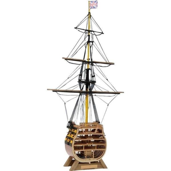 ウッディジョー 1/160 イギリス海軍 ビクトリー カットモデル (帆無) 木製模型 未塗装組立キット|sunrise-eternity|03