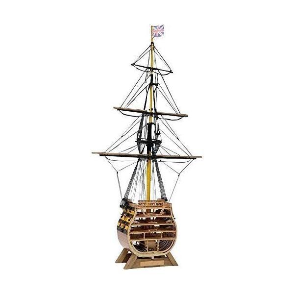 ウッディジョー 1/160 イギリス海軍 ビクトリー カットモデル (帆無) 木製模型 未塗装組立キット|sunrise-eternity|04