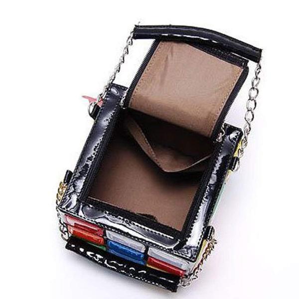 オシャレ ルービックキューブ型 カラフル スクエア バッグ パーティーパッグ