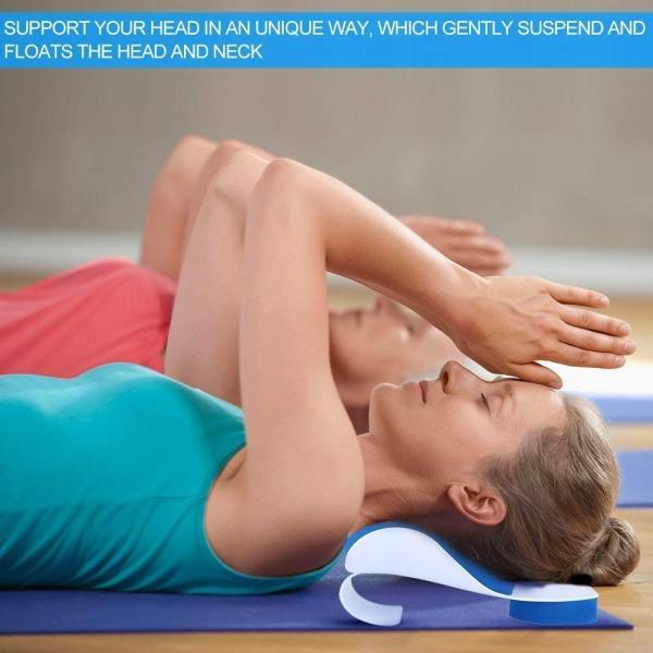 SoarUp 頸椎サポート 頸椎サポート枕 肩こり解消グッズ 健康枕 疲れを取り除く 肩こり対策 頭痛 改善 人間工学 低反発|sunrise-eternity|04