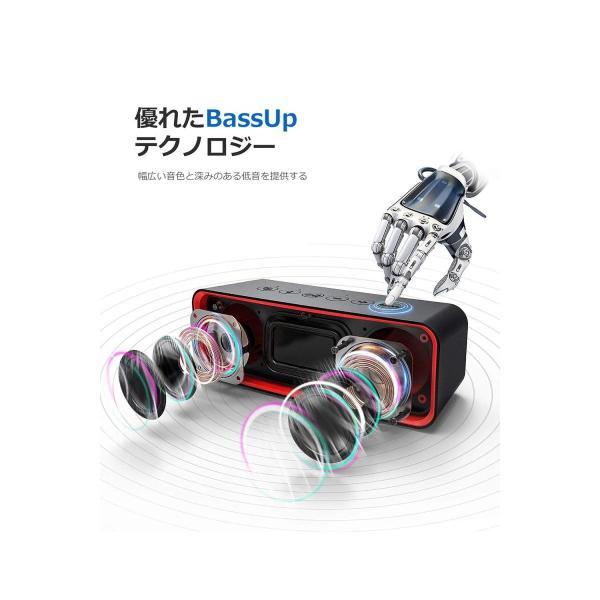 VTIN Bluetoothスピーカー Bassアップ技術 ワイヤレススピーカー IPX6 防水規格 重低音スピーカーbluetooth ポ
