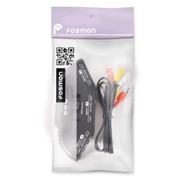 Fosmon AVセレクター 切替器 3入力1出力 3ポート RCAスイッチ + RCAコンポジットAVケーブル付