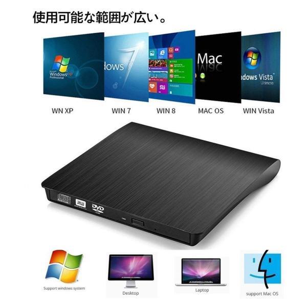 DVD ドライブ外付け USB 3.0 DVD プレイヤー ポータブルドライブ CD/DVD読取・書込 DVD±RW CD-RW USB3.