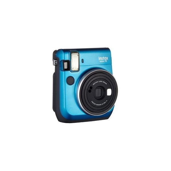 FUJIFILM インスタントカメラ チェキ instax mini 70N ブルー & フイルム50枚 & アルバム1冊 セット