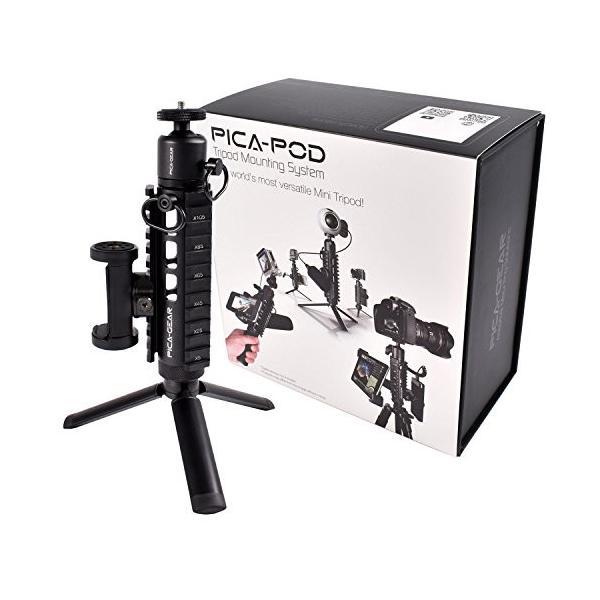 ピカギア(Pica-Gear) PICA-POD マウントベース ミニ三脚 ミルスペック対応 アルミ6061製 PG-001 スターターパッ