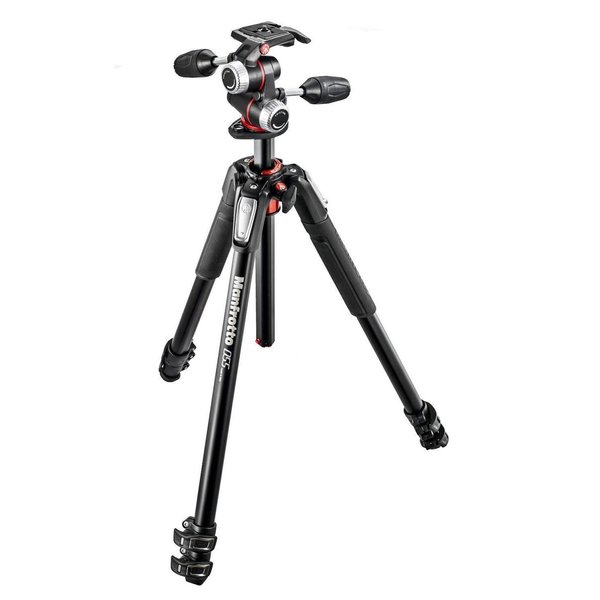 Manfrotto プロ三脚 055シリーズ アルミ 3段 + RC2付3Way雲台キット MK055XPRO3-3W