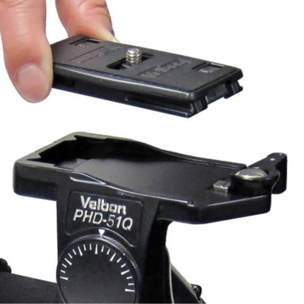 Velbon 3Way雲台 PHD-51Q 中型 底面径53mm コマ止め方式 クイックシュー対応 マグネシウム製 470447
