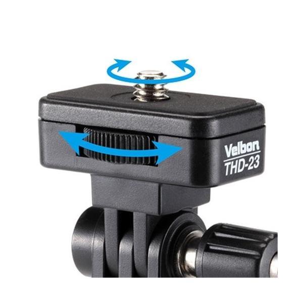 Velbon 1Way雲台 THD-23 小型 底面径24mm ティルト専用 プラスチック製 383624