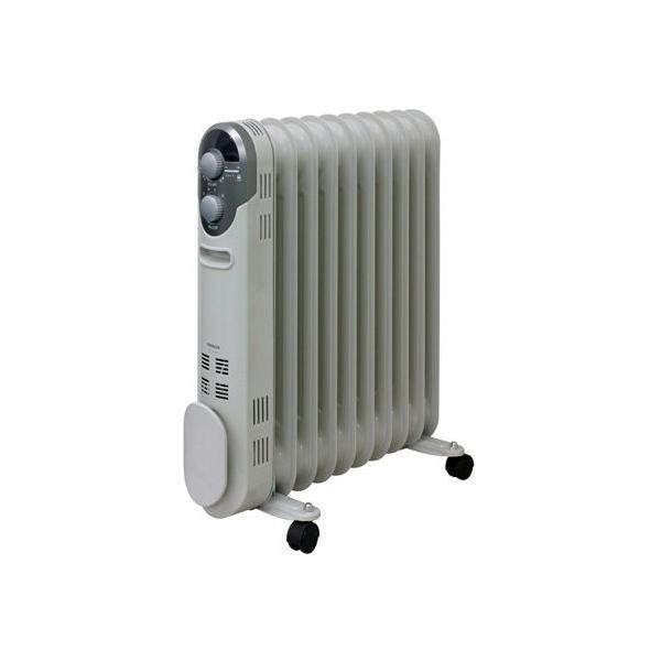 山善(YAMAZEN) オイルヒーター(1200/700/500W 3段階切替式)(温度調節機能付)(24時間入切タイマー付) ホワイト D