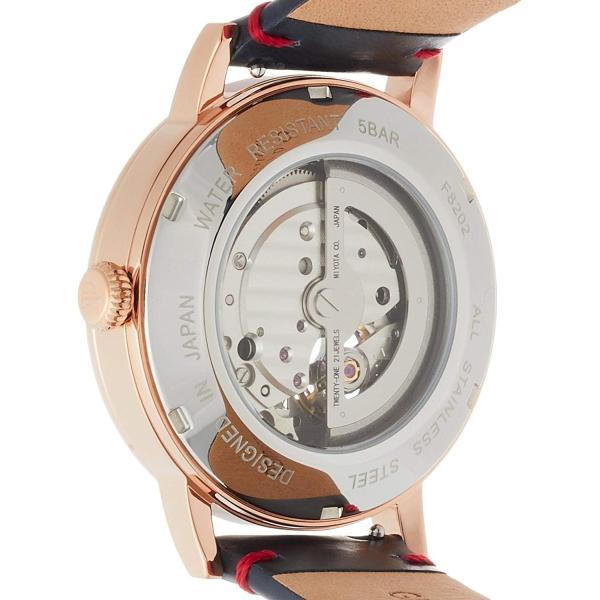 フルボデザインFurbo design 腕時計 F8202 自動巻き 日本製自動巻ムーヴメント搭載 ネイビー革 ネイビー文字盤 5気圧防水