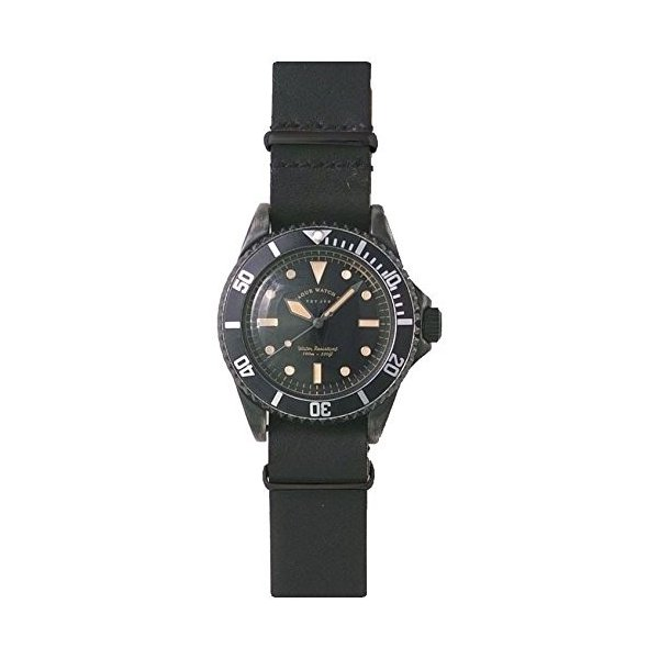 ヴァーグウォッチカンパニーVAGUE WATCH Co. 腕時計 BLK SUB(ブラック サブ) ミリタリー GUIDIamp;ROSELLIN