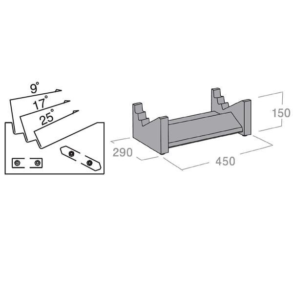ハヤミ工産 HAMILeX Joltシリーズ スピーカースタンド (センタースピーカー用) SB-410