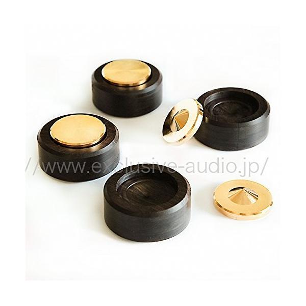 山本音響工芸 PB-4-2 アフリカ黒檀ベース+砲金ピンハイブリッドベース
