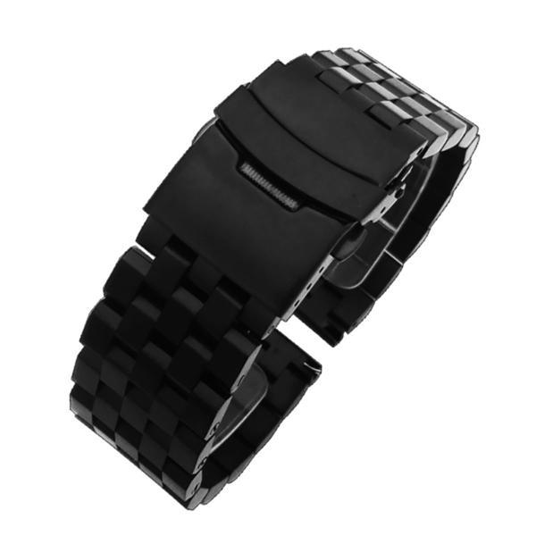 エイト 腕時計用 ステンレスベルト ブラック 24mm ESB701 並行輸入品