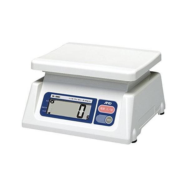 Aamp;D 取引証明用 デジタルはかり SK-1000i-A4 ひょう量:1000g 最小表示:1g(使用範囲:20g~1000g) 皿寸法:2