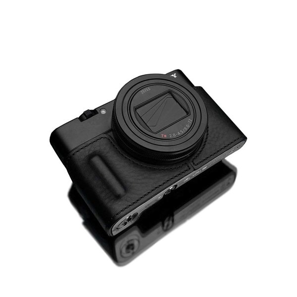 GARIZ SONY RX100 VI (DSC-RX100M6) 用 本革カメラケース HG-RX100M6BLK ブラック