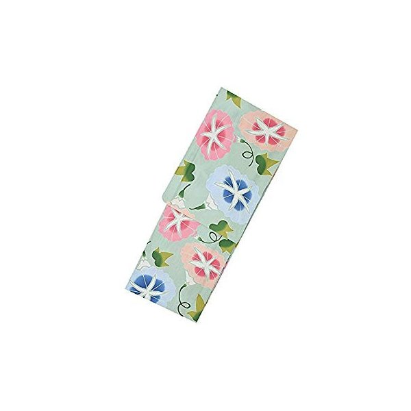 ツモリチサト レディース 綿浴衣2点セット「グリーン 朝顔」日本製