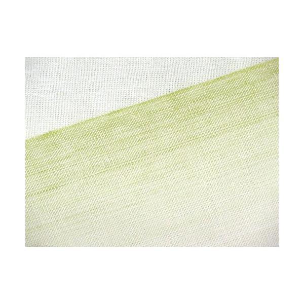 浴衣帯 本麻 先染めぼかし織の小袋帯「抹茶系」TKB963
