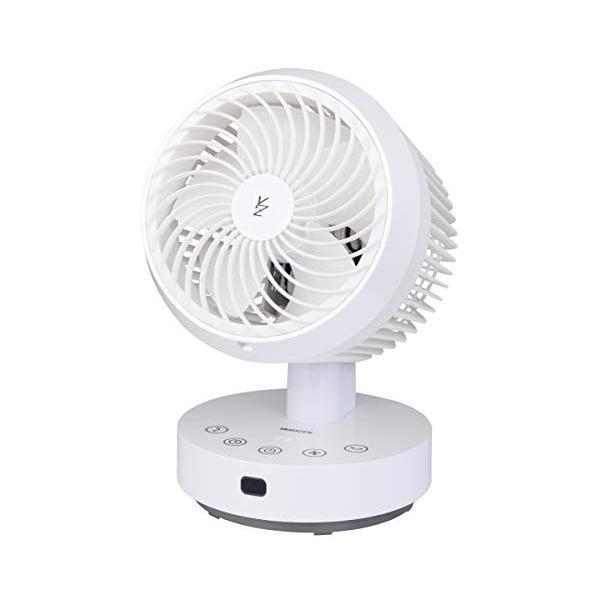 山善 扇風機 18cm 立体首振り サーキュレーター タッチスイッチ 風量6段階調節 静音モード タイマー機能 リモコン付き パールホワイト|sunrise-eternity|06