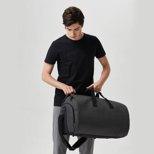 GFUN ガーメントバッグ スーツカバー 靴収納 防水 防塵 型くずれ防止 シワ防止 ポケット付き スーツバッグ ボストンバッグ(シューズを|sunrise-eternity