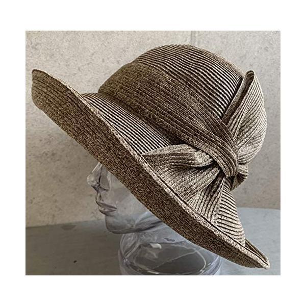no brand ( カラー : ブラウン ) 帽子 Cheer チアー アンダリ グランデ リボン ハット つば広 HAT UV対策 UV|sunrise-eternity
