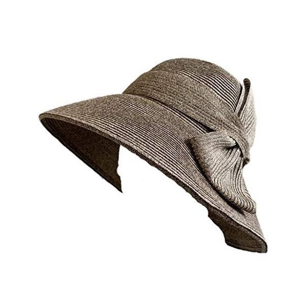 no brand ( カラー : ブラウン ) 帽子 Cheer チアー アンダリ グランデ リボン ハット つば広 HAT UV対策 UV|sunrise-eternity|02