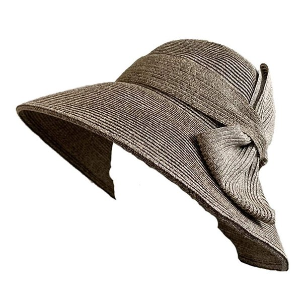 no brand ( カラー : ブラウン ) 帽子 Cheer チアー アンダリ グランデ リボン ハット つば広 HAT UV対策 UV|sunrise-eternity|03