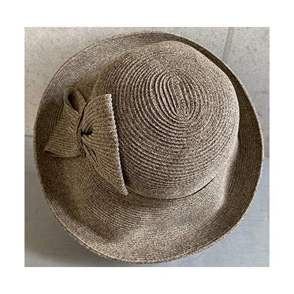 no brand ( カラー : ブラウン ) 帽子 Cheer チアー アンダリ グランデ リボン ハット つば広 HAT UV対策 UV|sunrise-eternity|07