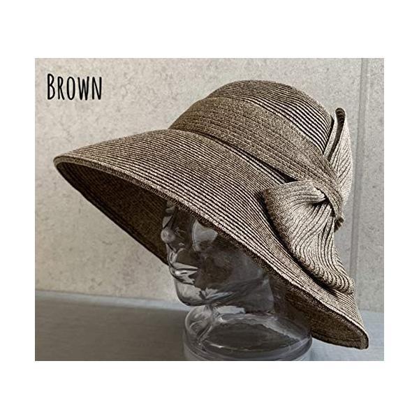 no brand ( カラー : ブラウン ) 帽子 Cheer チアー アンダリ グランデ リボン ハット つば広 HAT UV対策 UV|sunrise-eternity|08