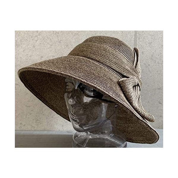 no brand ( カラー : ブラウン ) 帽子 Cheer チアー アンダリ グランデ リボン ハット つば広 HAT UV対策 UV|sunrise-eternity|09