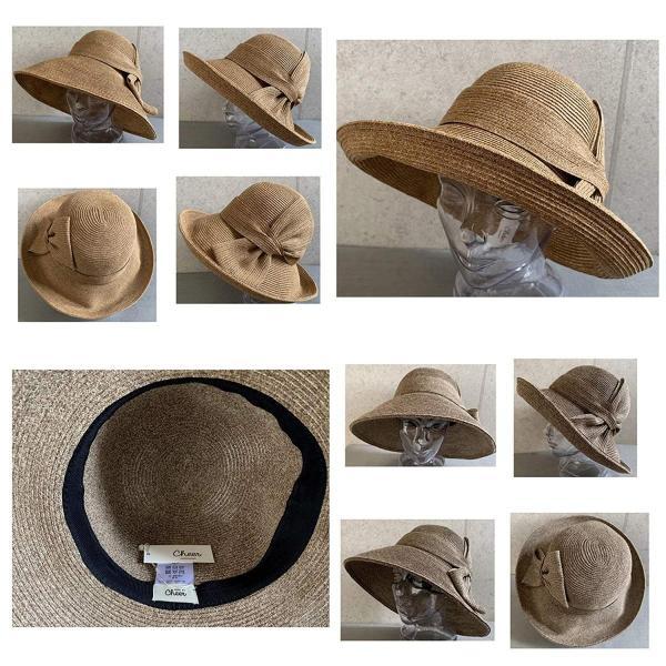 no brand ( カラー : ブラウン ) 帽子 Cheer チアー アンダリ グランデ リボン ハット つば広 HAT UV対策 UV|sunrise-eternity|10