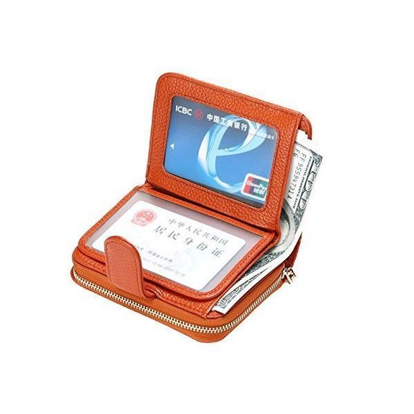[ビシゴロ]Bisi Goro クレジット カードケース 大容量 小銭入れ じゃばら 二つ折り 財布 (ブラウン)