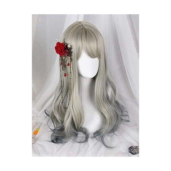(インマン) INMAN フルウィッグ ウィッグ ロング ゆるふわ カール 巻き髪 自然 原宿 ロリータ 高品質 耐熱 グラデーション (鉄色)