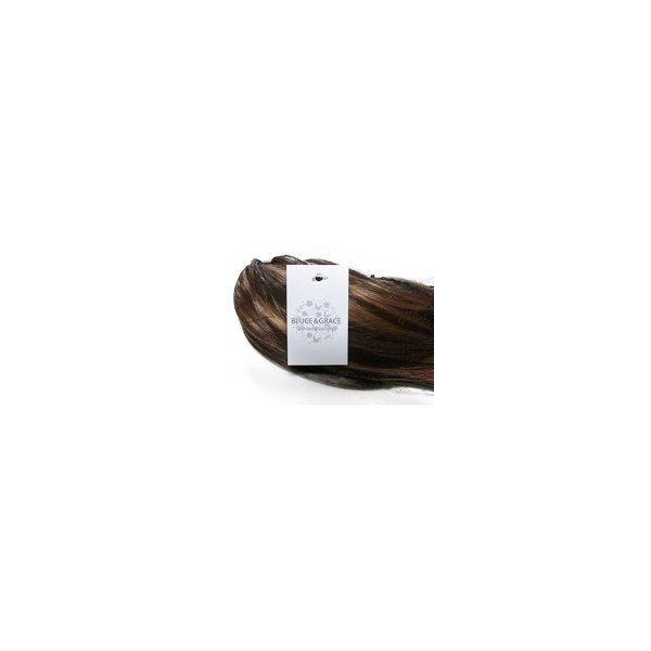 BLUCE&GRACE ポニーテール ウィッグ ロング カール セミロング クリップ ワンタッチ つけ毛 耐熱 (ブラック)