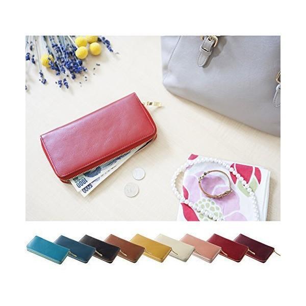 [コラーレ] corale 長財布 レディース 革 本革 ラウンドファスナー レザー ウォレット 選べる 9colors (ダークブラウン)
