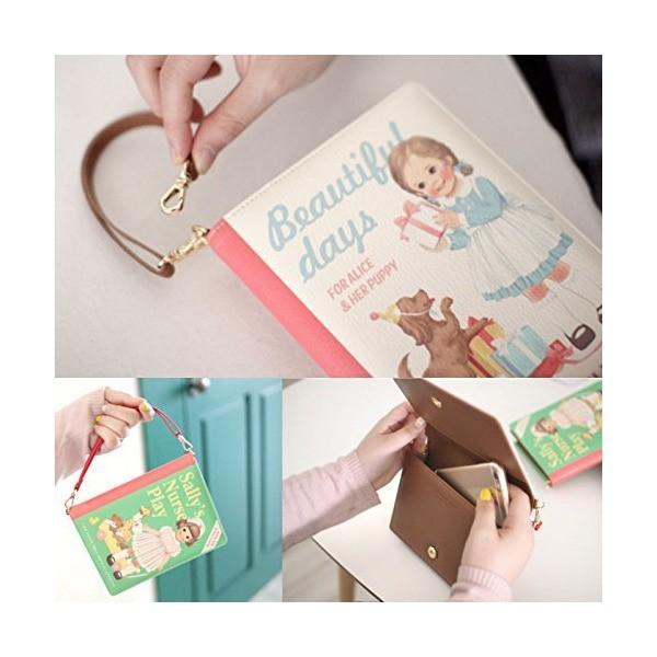 Korea Afrocat Paper Doll Mate新しいブッククラッチSバッグ複数機能ポーチ