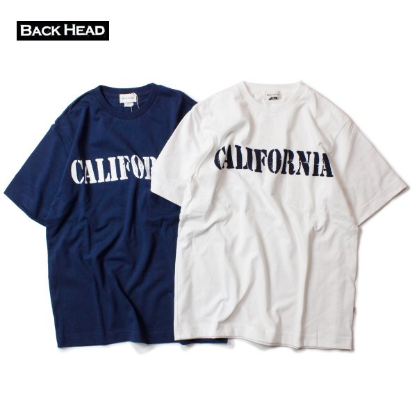 BACK HEAD バックヘッド CALIFORNIA STAMP POCKET TEE