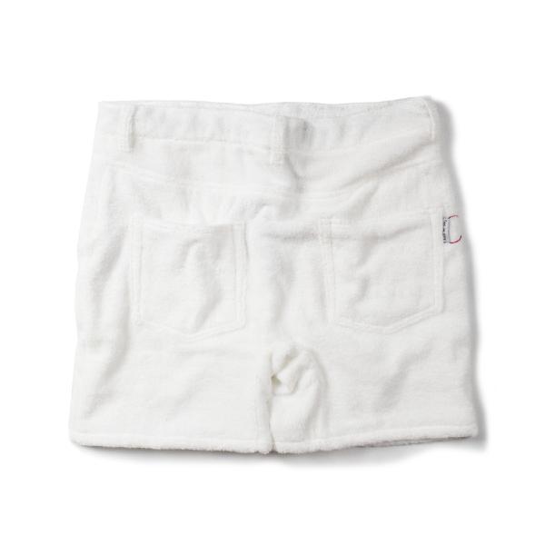 ショートパンツ ルームウェア パイル地 ショーツ ハーフパンツ メンズ/レディース 今治タオル 日本製 ロゴ サーフ ホワイト sunscalif 02