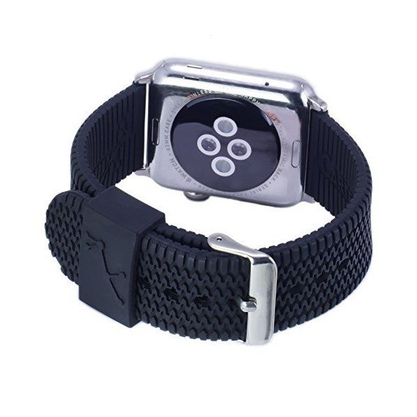 Apple WatchバンドでTire Treadシリコンby carterjett ブラック CJ-1-38-SS
